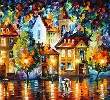 LUXEMBURG NIGHT by Leonid  Afremov