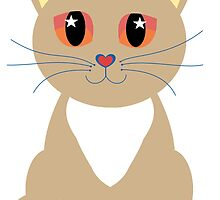 One and Only One Cream Colored Kitty by Jean Gregory  Evans