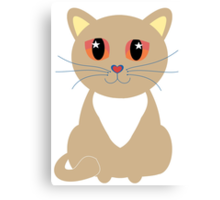 One and Only One Cream Colored Kitty Canvas Print