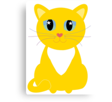 Only One Kitty With Multi-colored Whiskers Canvas Print