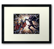 Super Grover vs. The Count Framed Print