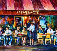 CAFE IN PARIS by Leonid  Afremov