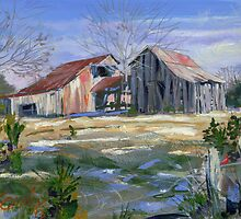 Winter Afternoon (tennessee barn, farm by COusley622