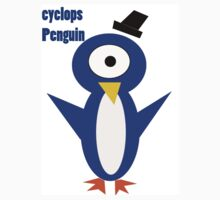 Cyclops penguin Blue - white T  by ChrisandEric