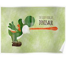 Very Hungry Dinosaur Poster