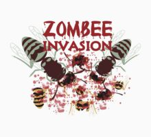 Invasion Of The Zombees by FireFoxxy