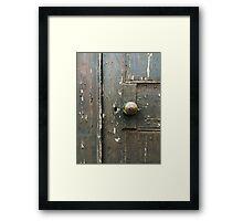 Locked Door Framed Print