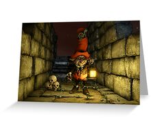 The Leprechaun and The Goblin Greeting Card