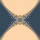 Blue Gold Fractal Lace by webgrrl