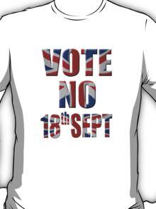 Union Jack Vote No - Scottish independence referendum T-Shirt