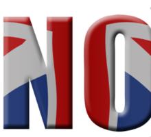 Union Jack Vote No - Scottish independence referendum Sticker