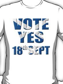 Scottish flag Vote yes - Scottish independence referendum T-Shirt