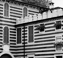 Italian Stripy Building by Alex Wagner
