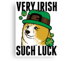 Doge St. Pattys Day Canvas Print