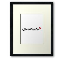 Cheerleader heart Framed Print