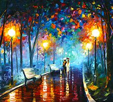 MISTY MOOD ORIGINAL OIL PAINTING BY LEONID AFREMOV by Leonid  Afremov