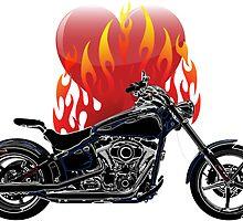 Burning Biker Love by starstreamdezin
