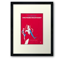 No271 My ROGER RABBIT minimal movie poster Framed Print