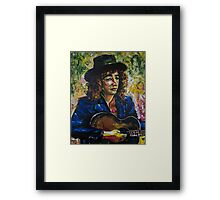 The Guitar Player by Zito Framed Print