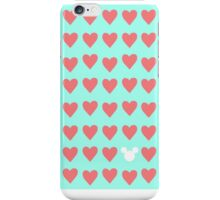 Hidden Mickey- Mint & Coral iPhone Case/Skin