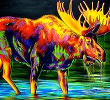 Motley Moose by teshiaart