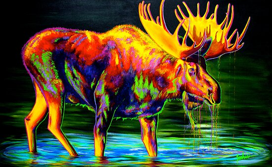 Motley Moose by teshiaart