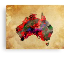 WATERCOLOR MAP of AUSTRALIA Metal Print
