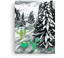 Cactus Winter Wonderland Canvas Print
