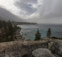 The Storm Arrives - Sand Harbor by Richard Thelen