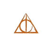 Orange Deathly Hallows Symbol by ilikefood