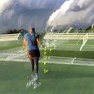 Tennis shadows by stefanie le pape