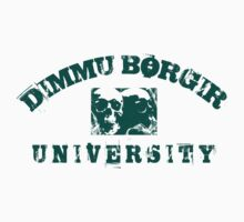 DIMMU BORGIR UNIVERSITY vintage t-shirt TEAL DESIGN by Endlessgrief