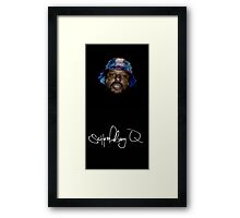 Wavy SchoolBoy Q with signature Framed Print