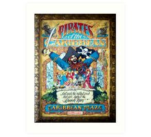 Pirates of the Caribbean Ride Art Print