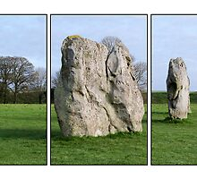 Avebury in Triptych  by hootonles
