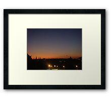 EDINBURGH SKYLINE DUSK Framed Print