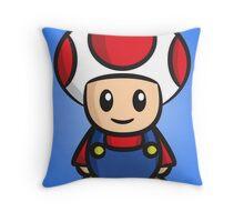 Mario Toad Throw Pillow