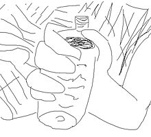 Social commentary: Female Nude/Drunk -(150214)- Digital artwork/MS Paint by paulramnora