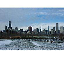 Wintry Windy City Skyline - Chicago, Illinois, USA Photographic Print