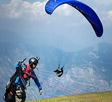 Paragliders in Italy by Alex Wagner