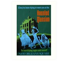 Haunted Mansion Ride Poster Art Print