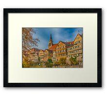Tübingen - View from the Neckar Bridge 4 Framed Print