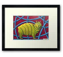 404 - MICHELIN MANX - DAVE EDWARDS - COLOURED PENCILS - 2014 Framed Print