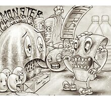 Monster Cheese Photographic Print