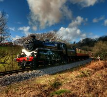 Approaching Grosmont by English Landscape Prints