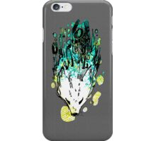 Blue Green Splat Fox iPhone Case/Skin