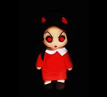 Sinderella Sweet Scary Devilish Gothic Doll in a Red Dress  by ARTificiaLondon