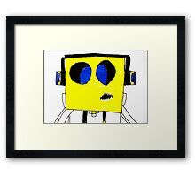 Respect the Genius Funny Computer Cartoon Comic Dude  Framed Print