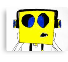Respect the Genius Funny Computer Cartoon Comic Dude  Canvas Print