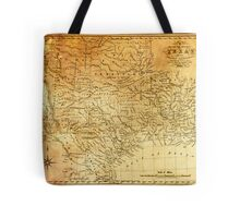 MAP of the REPUBLIC of TEXAS 1841 Tote Bag